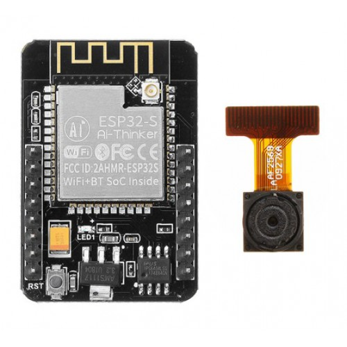 ESP32-CAM Wifi+Bluetooth Camera board met de OV2640 Camera module