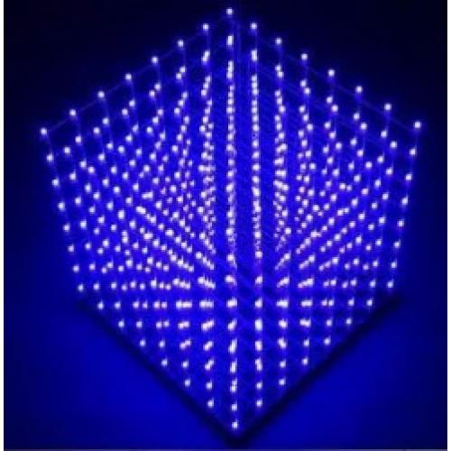 Bouwkit LED-Cube 8x8x8 Blauw