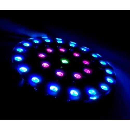 Bouwkit 'Crystal Energy Ring' met 28 RGB LED's