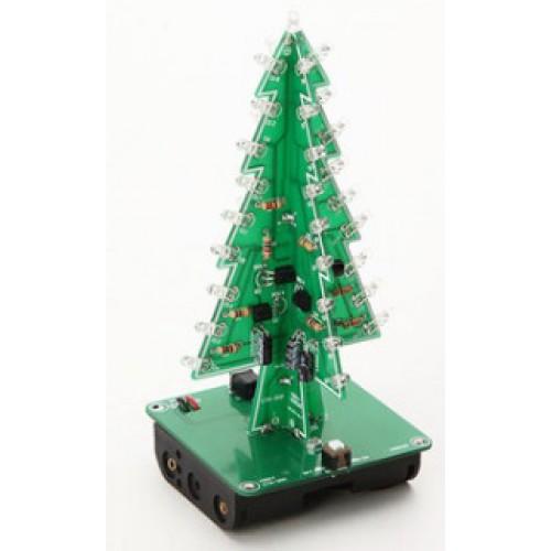 Bouwkit Kerstboom - 3 kleuren LED's