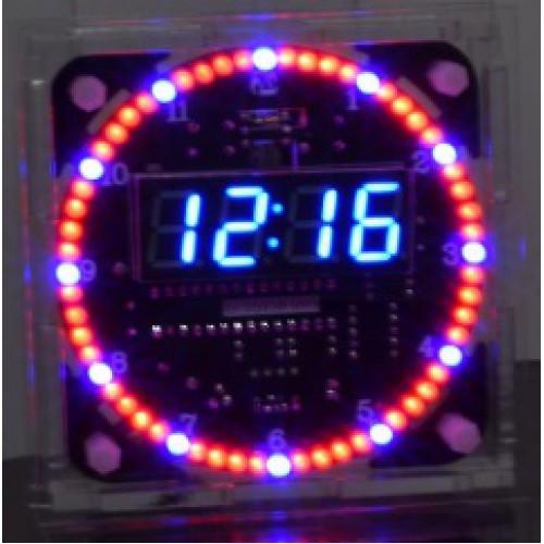 Bouwkit Klok Roterende LED's EC1515B-DS1302