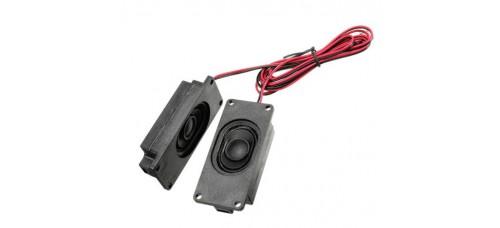 Mini-Speaker 3 watt, 8 ohm - Rechthoekig, 2 stuks