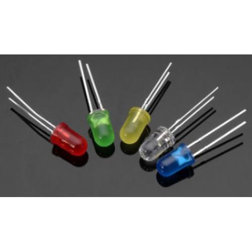 Assortiment LED's - 100 stuks (5mm - 5 kleuren) Ultra bright
