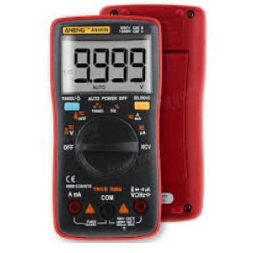 Digitale MultiMeter AN8009 True RMS, Temperatuur, NVC