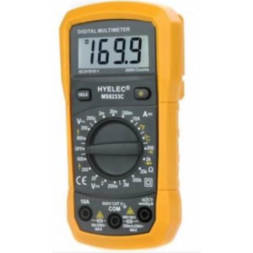 Digitale Multimeter MS8233C - met temperatuurmeting