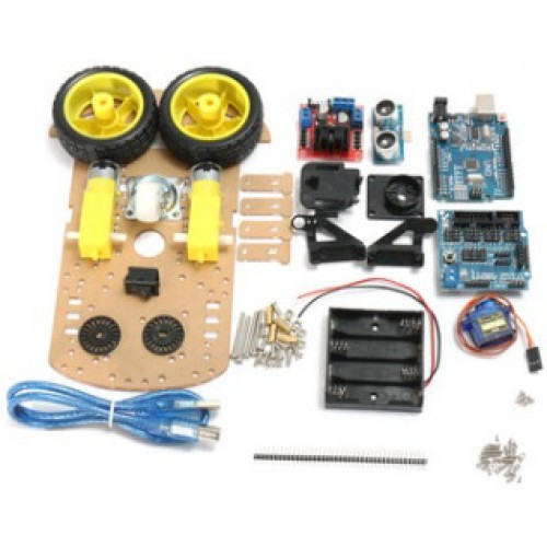 Smart Robot Car Kit Incl. Motordriver, Uno R3 en Ultrasoon