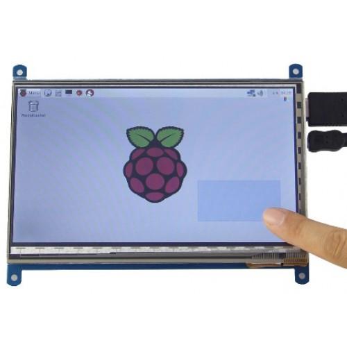 """Kleurendisplay 7"""" met Capacitieve Touch en HDMI, 1024 x 600 IPS"""