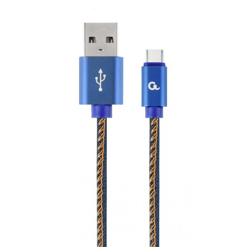 USB-C kabel Jeans 2m. CC-USB2J-AMCM-2M-BL
