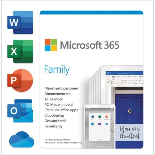 Microsoft  Office 365 Family Thuisgebruik 6Pers./1JR